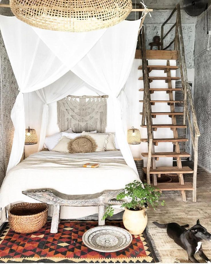 Bohemian bedroom decor has one of the most coveted