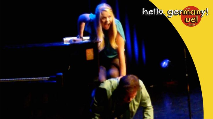 German Comedian makes LOVE on a piano!