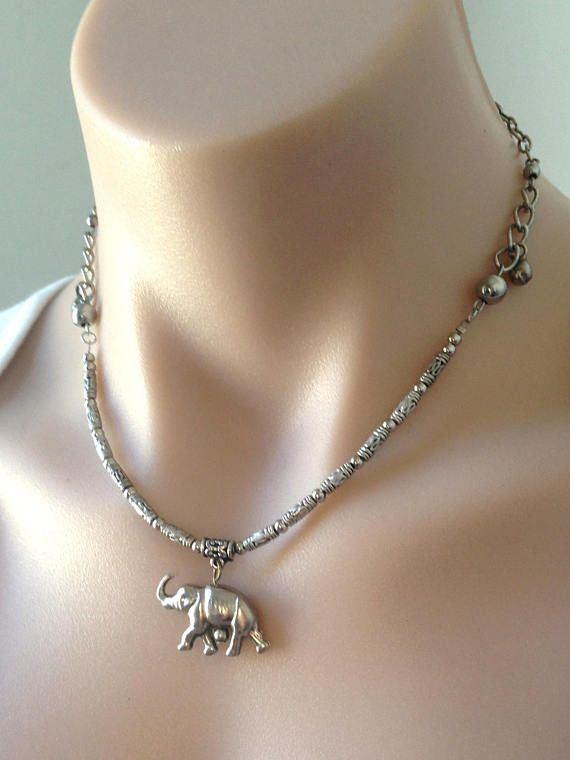 Free Shipping Necklace Choker Elephant Bohemian Jewelry Silver