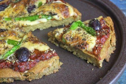Vegan quinoa pizza