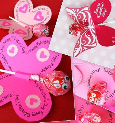 Printable lollipop butterflies and flowers / Valentin napi pillagós virágos nyalóka csomagolás /  Mindy