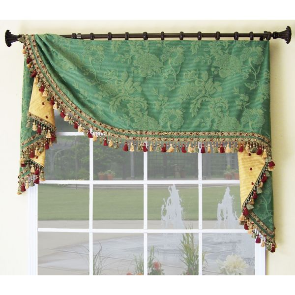 This window treatment design was inspired by one of the old masters of the 19th century, F.A. Moreland.