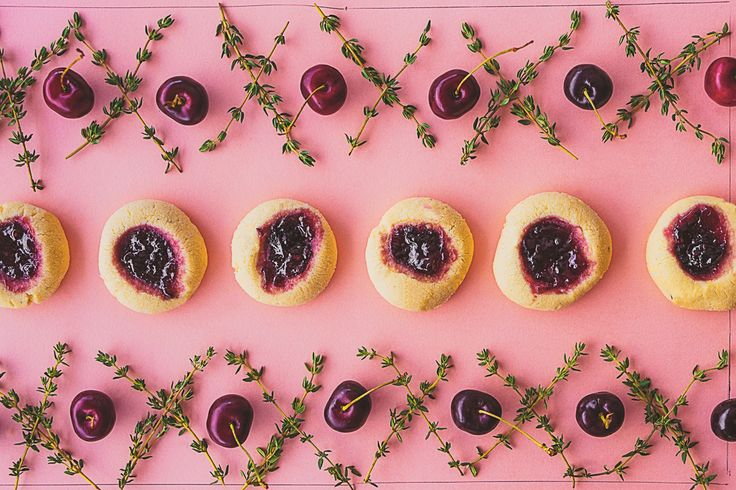 Black Cherry + Thyme Jam Drops Biscuits featured in Lunch Lady Issue Three. Lunch Lady Magazine available at http://shop.hellolunchlady.com.au/