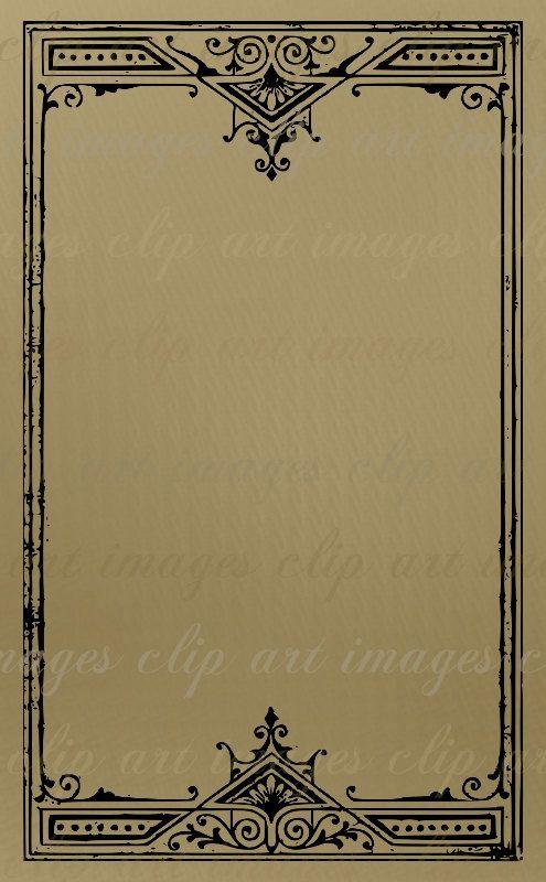 Frame Clip Artgrungy Vintage Art Nouveau Frame By Imagesclipart