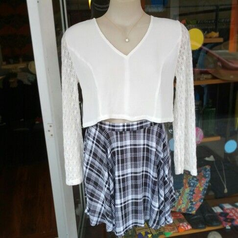 #newarrivals #newstock #minkpink #white #thestranger #top $69 #eviltwin #thingsshesaid #skirt $59 #flaresleeves #flare #lace #lacey #crop #croptop #check #blackandwhite #tartan #90sgirl #90sinspired #90s #so90s #spring #girl #heygirl