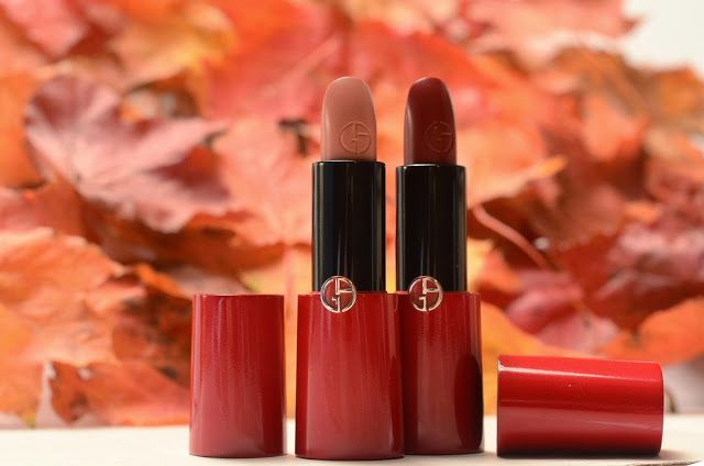 Autumn lips - Giorgio Armani Rouge Ecstasy lipstick, their first CC lipstick! Yeah, that's a thing now!  http://scatterbrainedblogging.blogspot.ie/2013/09/cc-lipstick-yes-armani-have-made-it.html