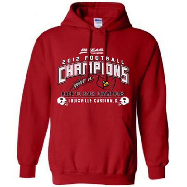 Louisville Cardinals 2012 NCAA Football Conference Champions Hoodie - Red - $59.99