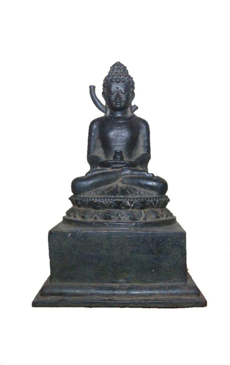bronze buddha statue 24cm hig h size