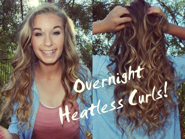 styling wet hair overnight best 25 heatless curls overnight ideas on 8881 | 5a02a584e5920284322845b0d98f22b0 curl hair overnight heatless curls overnight