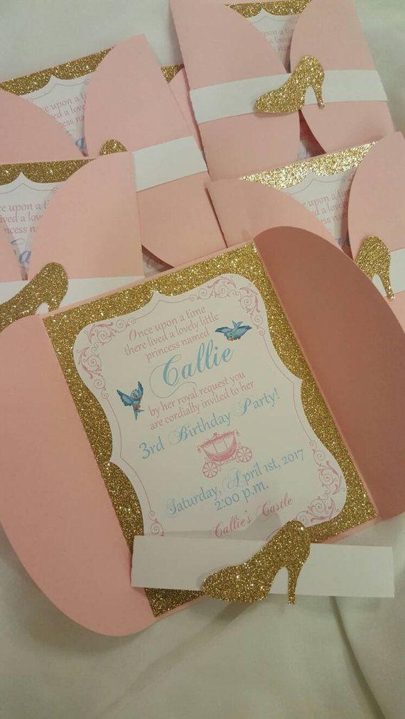 Invitación princesa 5 por CraftySistersPlus1 en Etsy
