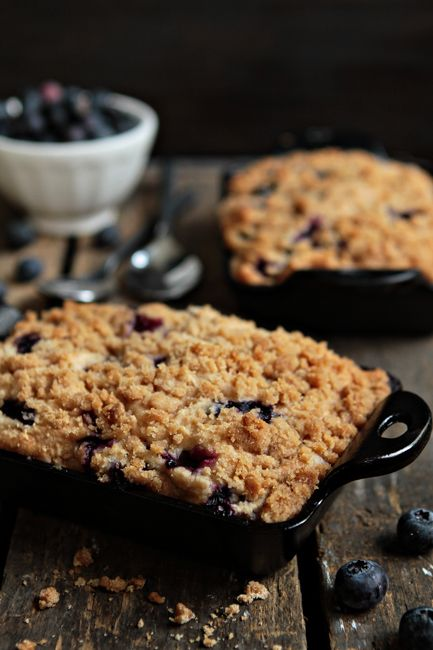 Blueberry Buckle: This recipe is perfect for a weekend brunch or top it with vanilla ice cream and serve after dinner.  The brown sugar crumb crust is so delicious it sends this coffee cake into a league of its own!  Click on the image for the recipe! Don't have/like blueberries... try apples, peaches or raspberries!