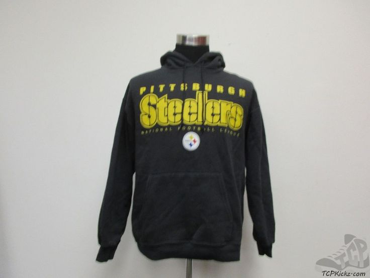 NFL Pittsburgh Steelers Hoody Sweatshirt sz L Large Football NFL Steel Curtain #NFL #PittsburghSteelers #tcpkickz