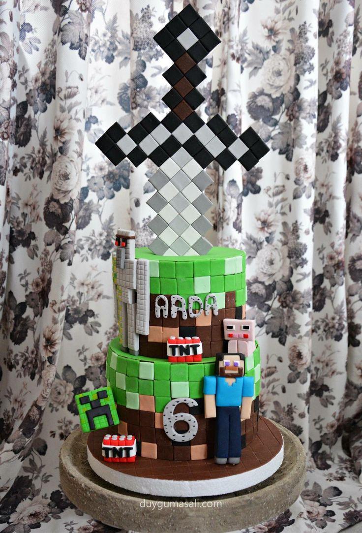 Minecraft tutkusu çılgın çocuklar :) duygumasali.com #minecraft #minecraftcake #minecraftpasta #çocukdoğumgünüpastası #pasta #birthday #birthdaycake #butikpasta #cake #dogumgunupastasi #6yaş #food #picoftheday #yum #delish #like #love #computergame #kidsbirthday