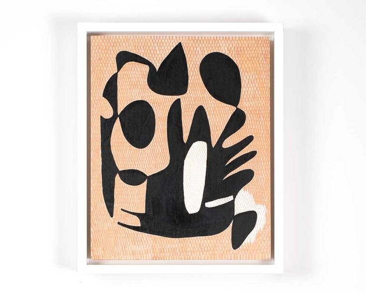 """Kels OSULLIVAN  Exhibited as part of 'life:form', 1-31 October 2015 acrylic on wood 8"""" x 10"""" Framed with white wood (no glass)  'An intuitive shape study, expressing what cannot be said in words.'  Part of the exhibition 'life:form' which references Angeles Arrien's shapes  studies, 'Signs of Life. The Five Universal Shapes and How to Use them'."""