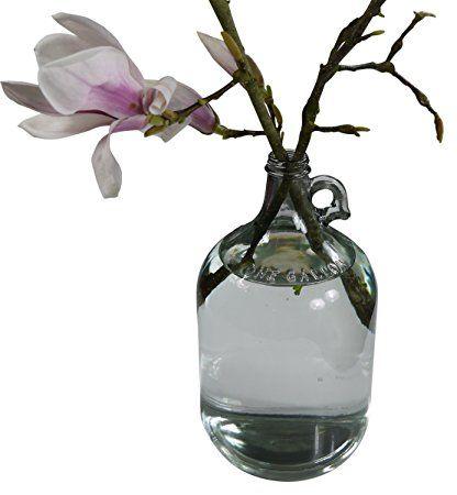 khegva florero gallon jarrn de suelo de cristal