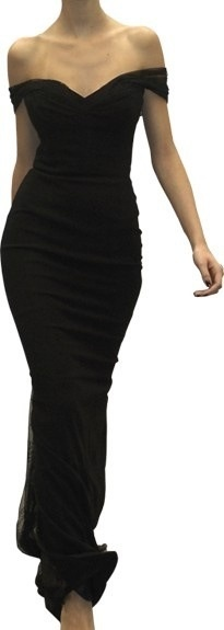 LOVE!!! Fashion: New York City Style. A black off the shoulder gown.