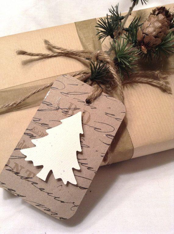 Christmas gift tags. christmas tree gift tags.