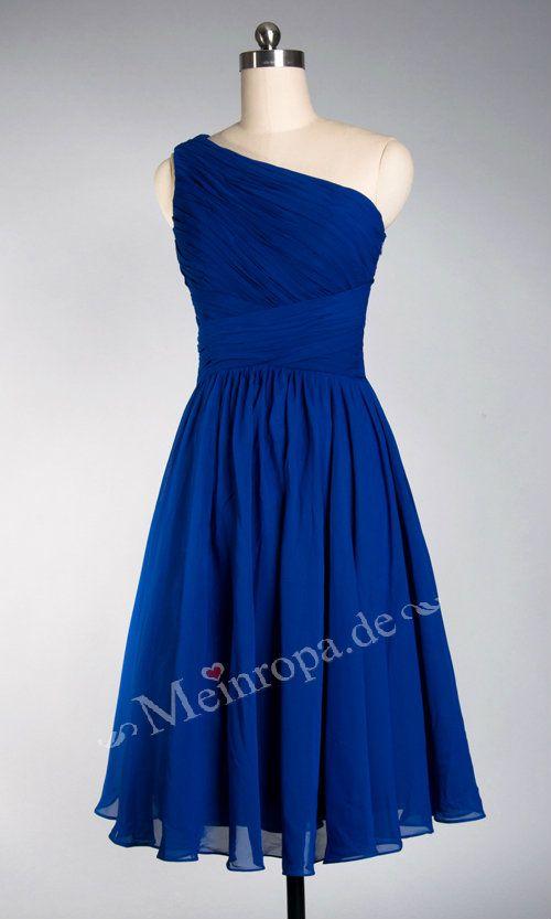 one shoulder blue dress brautjungfernkleider blau kleider fuer