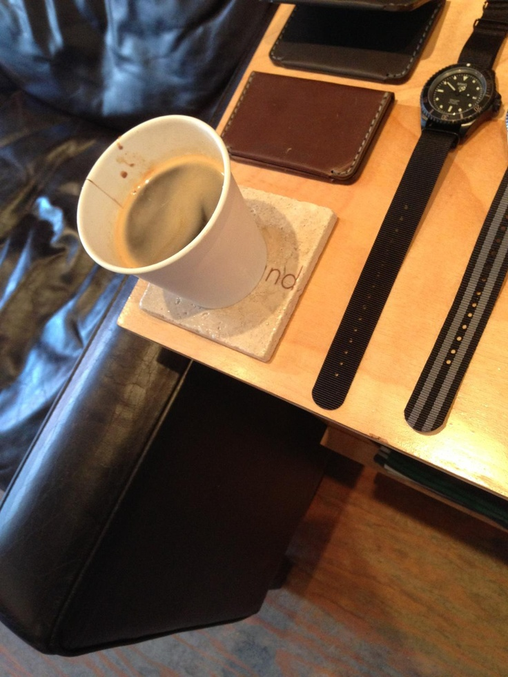 Nice to see that our coasters are being put to good use over @Lost & Found :)
