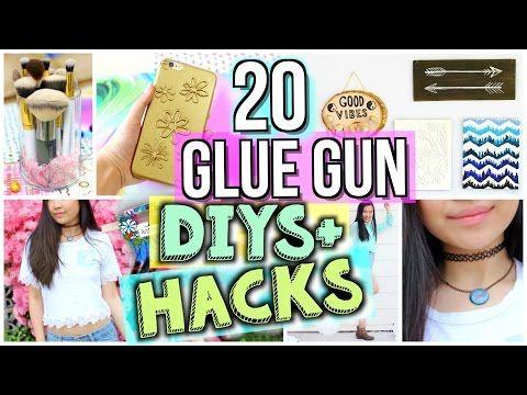 20 Ways to Use a Glue Gun! DIYs and Life Hacks | JENerationDIY - YouTube