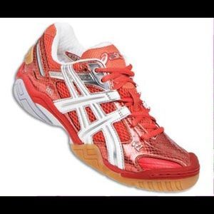 asics Shoes - ASICS Gel Volleyball Sneakers Red Pepper