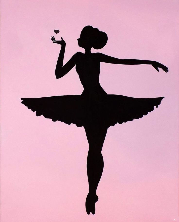 Картинка черно белая балерина