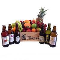 Mixed Cider Fruit Gift Hamper  www.igiftfruithampers.com.au  #fruithampers #fruitgifts #giftsformen #luxurygifts #mangifts #freeshipping #hampers #gifthampers #giftsaustralia