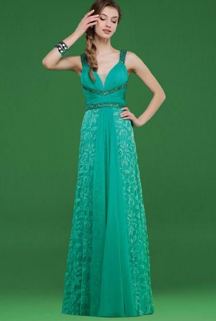 02a4da57b Vestido de noche azul turquesa de Couture Club
