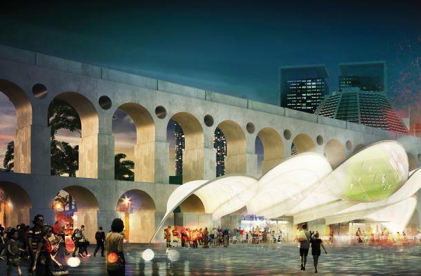 PINIweb.com.br  Concurso de ideias para símbolo arquitetônico da Copa do Mundo no Rio de Janeiro anuncia vencedor  Construção Civil, Engenharia Civil, Arquitetura