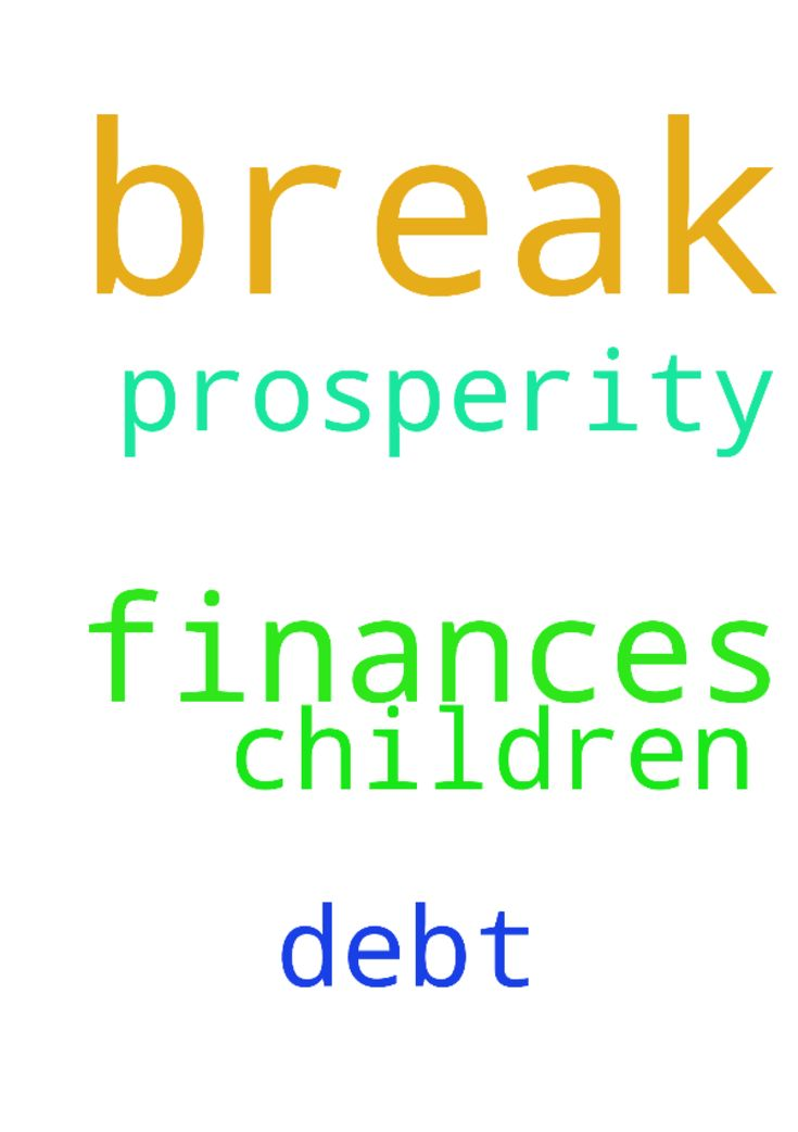 I request break through of my finances - I request break through of my finances and to help me with the debt and prosperity for my children Posted at: https://prayerrequest.com/t/nbe #pray #prayer #request #prayerrequest
