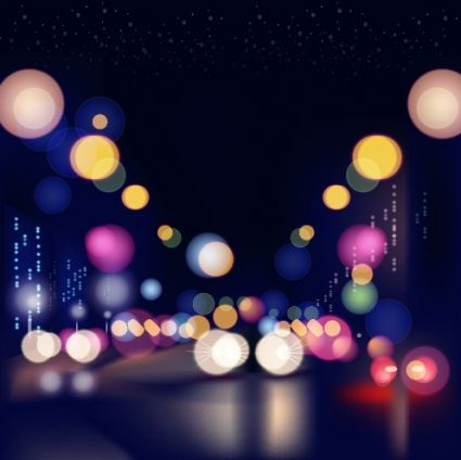 city night colored halation background vector graphics