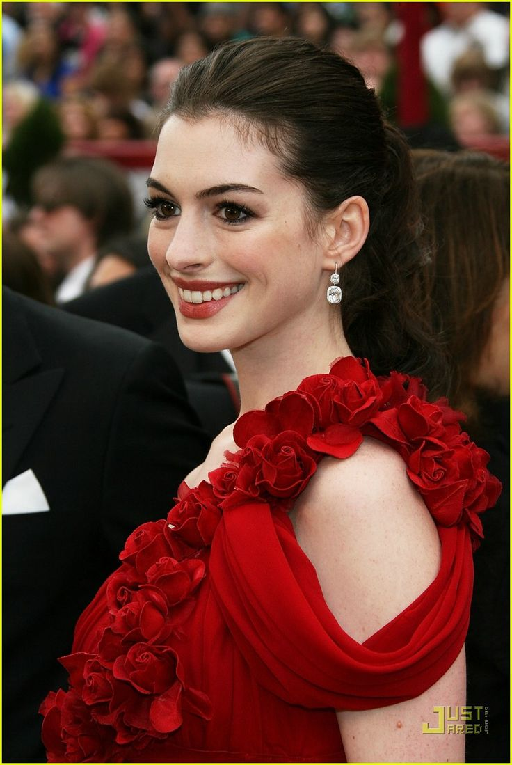 I'm a fan of Anne Hathaway and her seemingly endless supply of red dresses