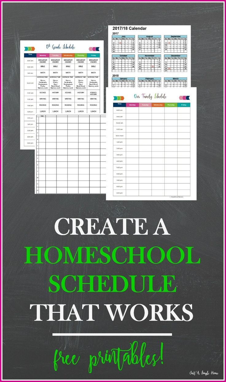 Get a FREE homeschool planner that you can print at home