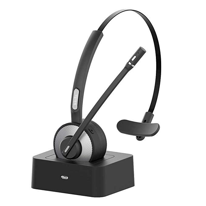 Amazon Com Trucker Bluetooth Headset Willful Wireless Headset With Microphone Charging Station Noise Cancelling Cle Wireless Headset Bluetooth Headset Headset