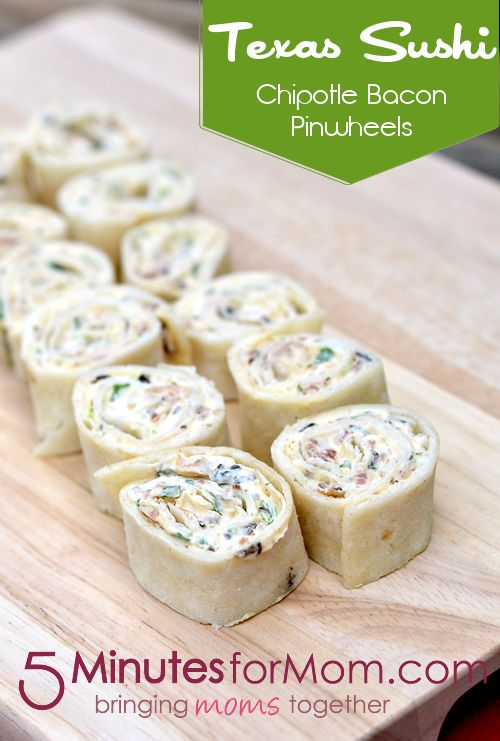 Texas Sushi: Appetizers In Under 10 Minutes (With Recipe Linky) on http://www.5minutesformom.com
