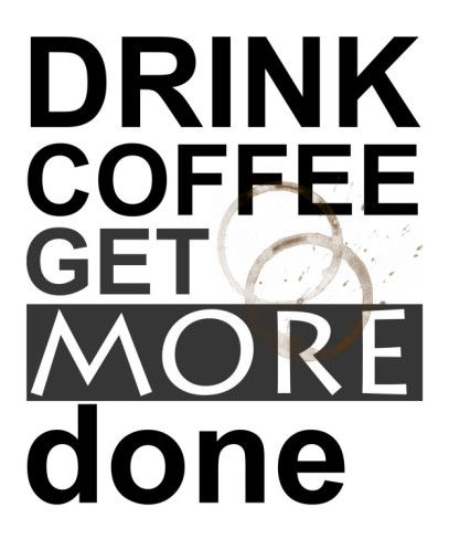 Drink Coffee Giclee Print by Jan Weiss at AllPosters.com