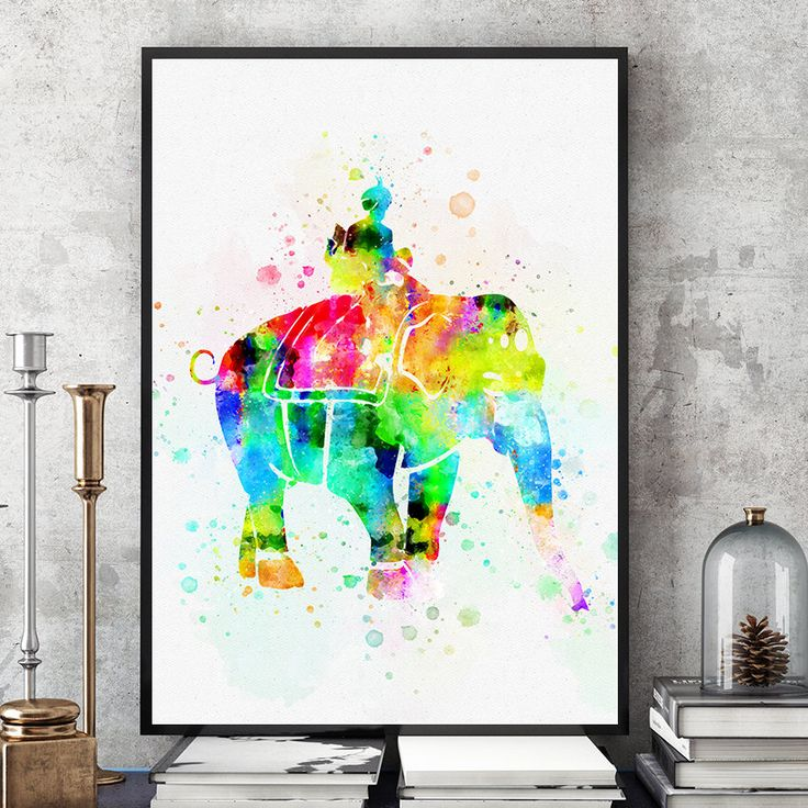 Elephant Print, Elephant Nursery Decor, Watercolour Elephant, Maharaja, Kids Room Wall Art Decor, Indian Elephant Glicee (N303) by PointDot on Etsy