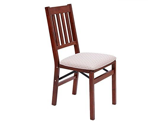 Stakmore Arts and Craft Folding Chair Cherry Finish ( Mink Suede Fruit Wood)---64.96---