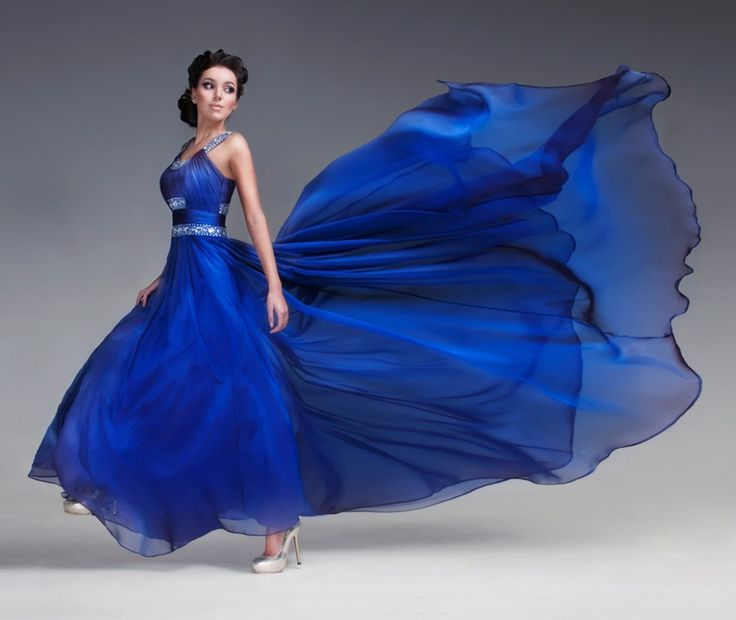 Top1walls Blue Dress Pretty Beautiful Model Lady Beauty