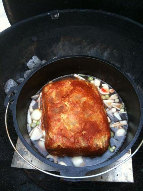 Pulled Pork im Dutch Oven nach Slater - Rezeptdatenbank der BBQ-Piraten (Paleo Pork Pulled)