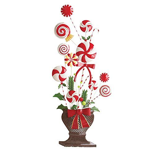 Peppermint Candy Cane Topiary Wall Decoration ** More Info Could Be Found  At The Image