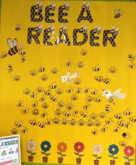 Premiers Reading Challange. Bee A Reader - each student adds a bee as they complete the challenge