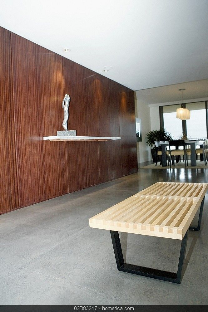 Interiors Of A House With Modern Wood Panels Walls Modern