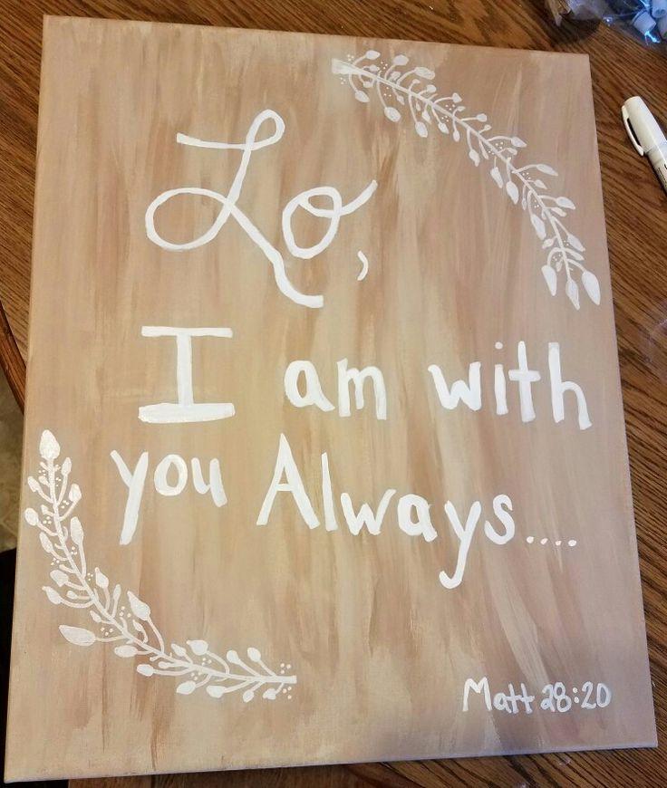 Scripture Canvas DIY