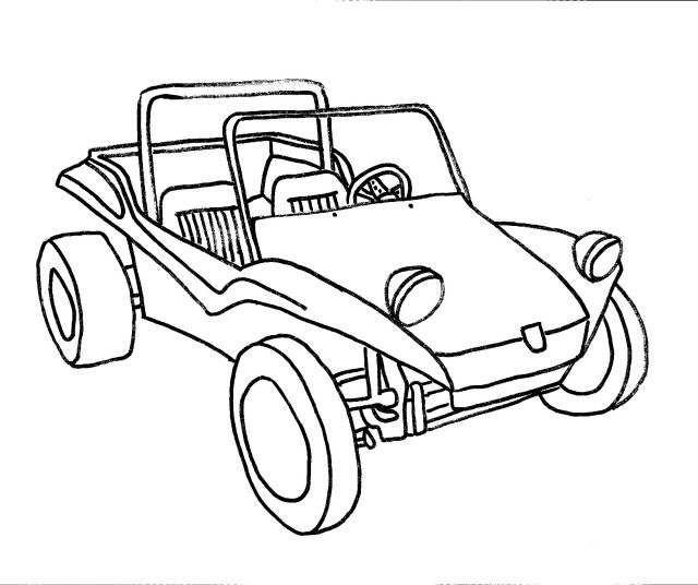 Buggy Coloring Dune Pages 2020 With Images Dune Buggy Vw
