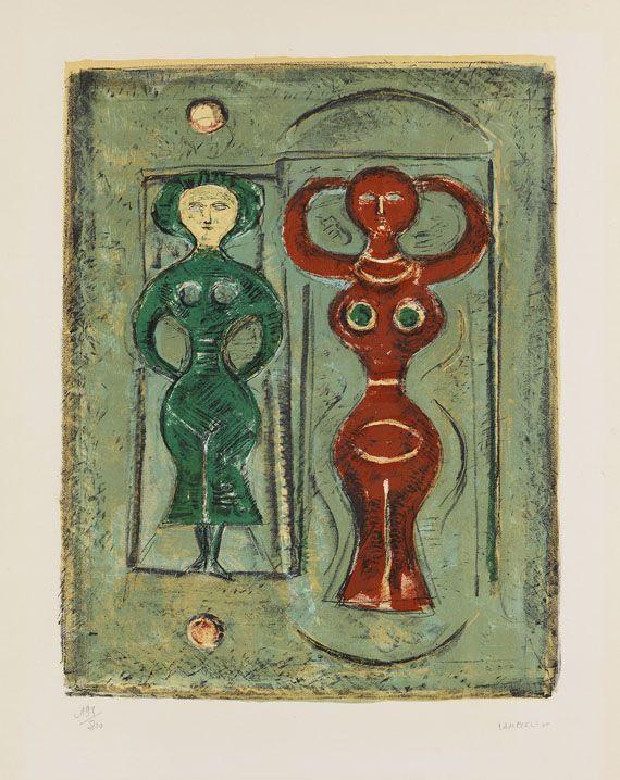 Campigli, Massimo  Composition con due Figure, 1965.