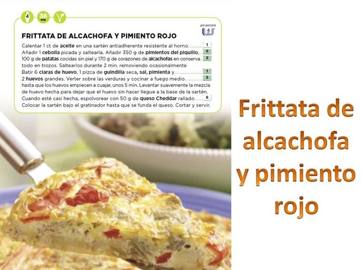 Frittata de alcachofa y pimiento rojo. entulínea, dieta, adelgazar, verdura, salud, propoints