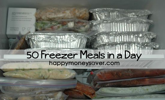 50 Freezer Meals in a Day (with links to recipes)