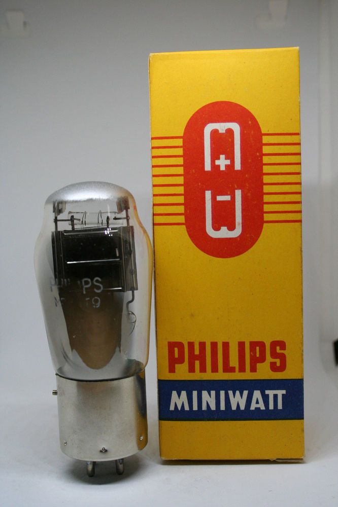 Dettagli su Pt9 MRO PHILIPS Tube DHT metal base 2 Volt