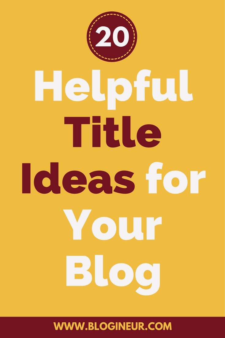 Struggling to come up with a title for your next blog or need inspiration on what your next blog post should be about? Check out this post.